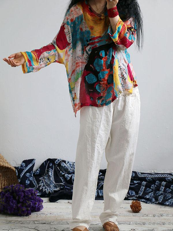 Colorful Printed Comfortable Sesame Blouse
