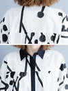 Printed Mid-Length Loose Lapel Shirt