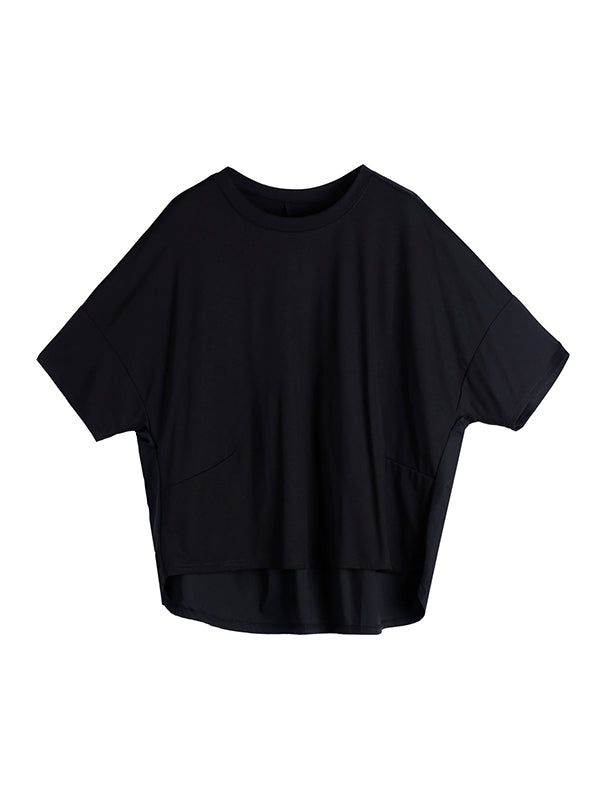 New Solid Round-Neck T-Shirts