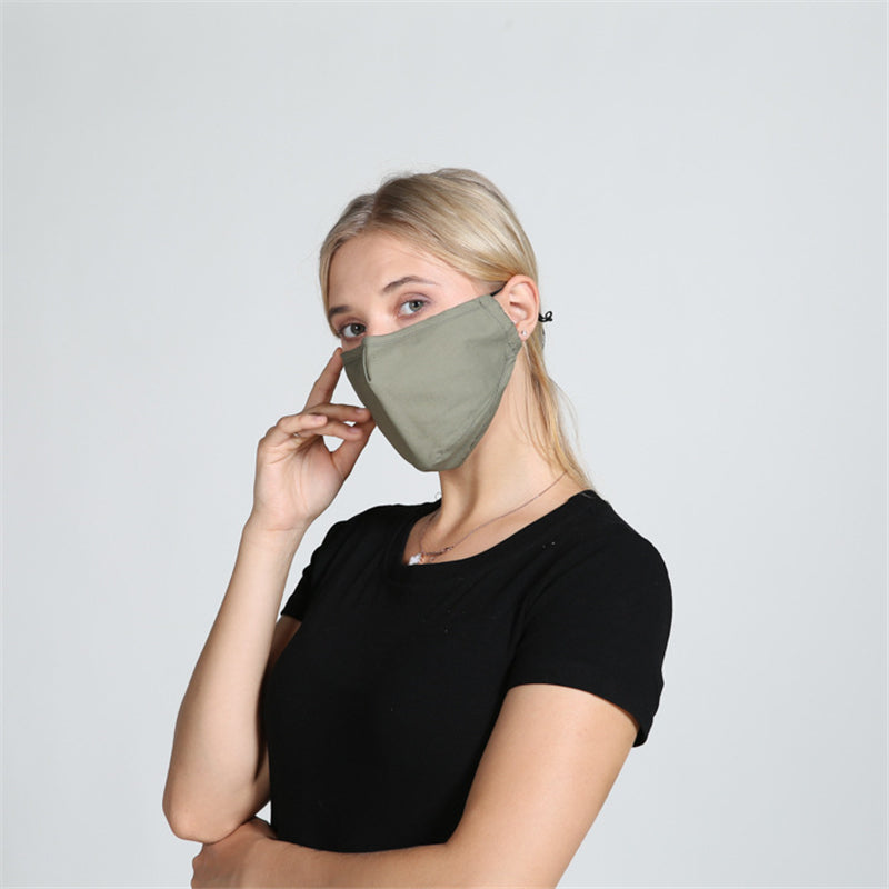 5 Pieces Original Solid Anti-Dust Washable Protective Mask