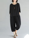 Super Loose Comfotable Black Suit