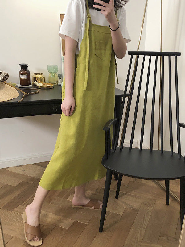 Casual Linen Slip Dress