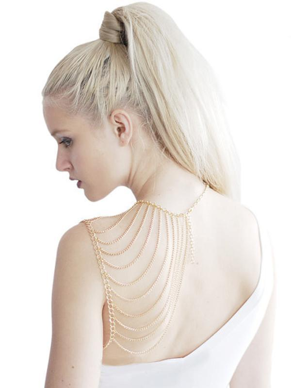 Silver&Gold Tassels Body Chain
