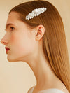 Faux Pearl Hair Clip Beaded Metal Slide In Hair Clip