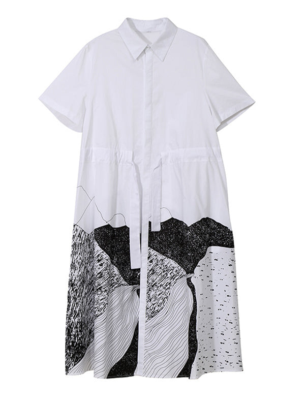 Fashion Empire Split-Joint Shirt Dress