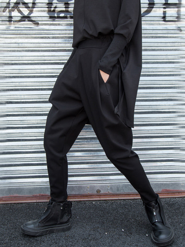 Simple Black Harem Pants