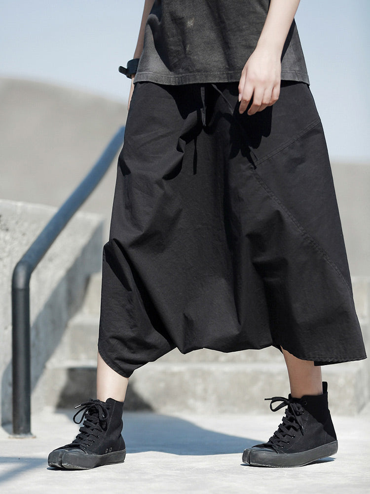 Super Loose Black Harem Pants