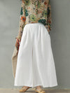 Vintage Loose Solid Color Casual Wide Leg Pants