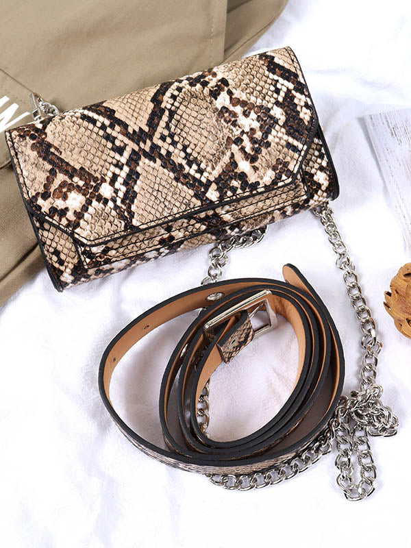 Fashion Leopard Inclined Shoulder Bag