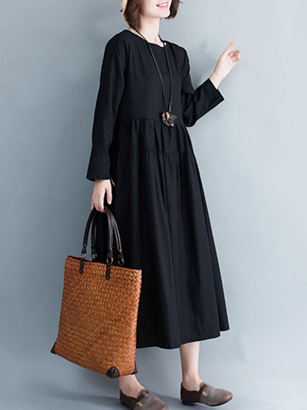 Casual Cotton Simple Long Dress