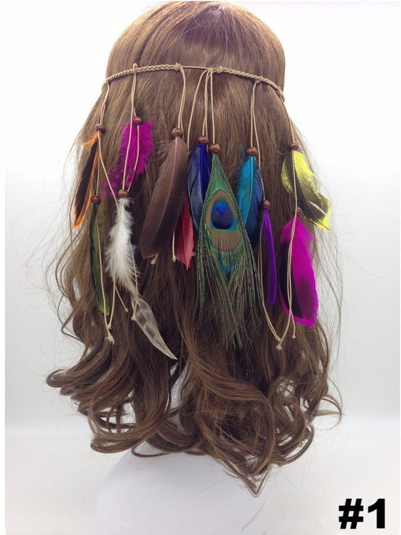 Peacock Feathers Headwear