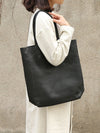 Simple Black Leather Bag