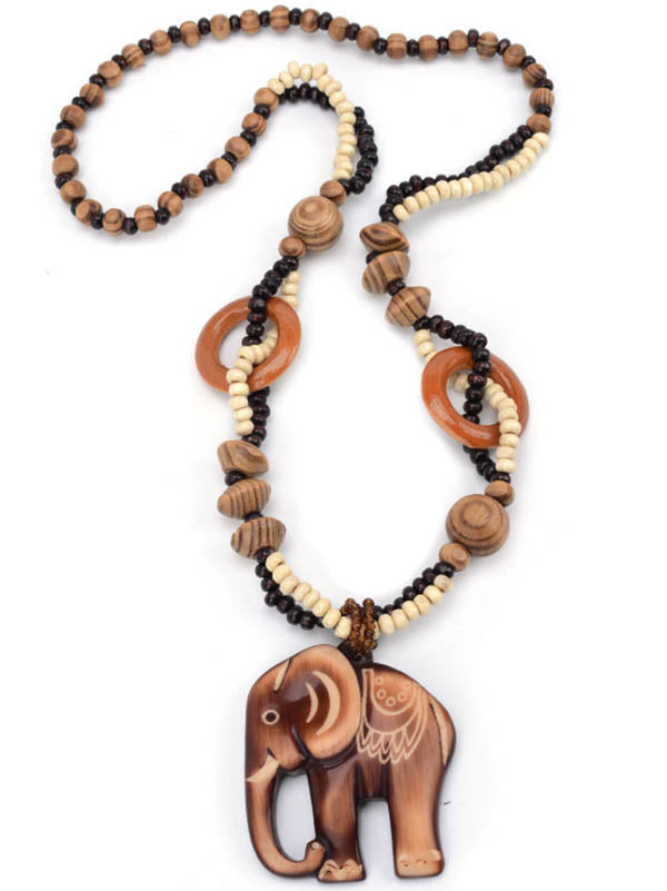 Wood Elephant Pendant Accessories