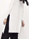 Simple Solid Split-Side Long T-Shirt