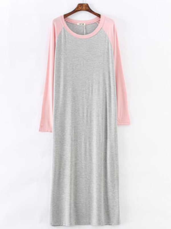 Loose Contrast Color Comfortable Dress Pajamas