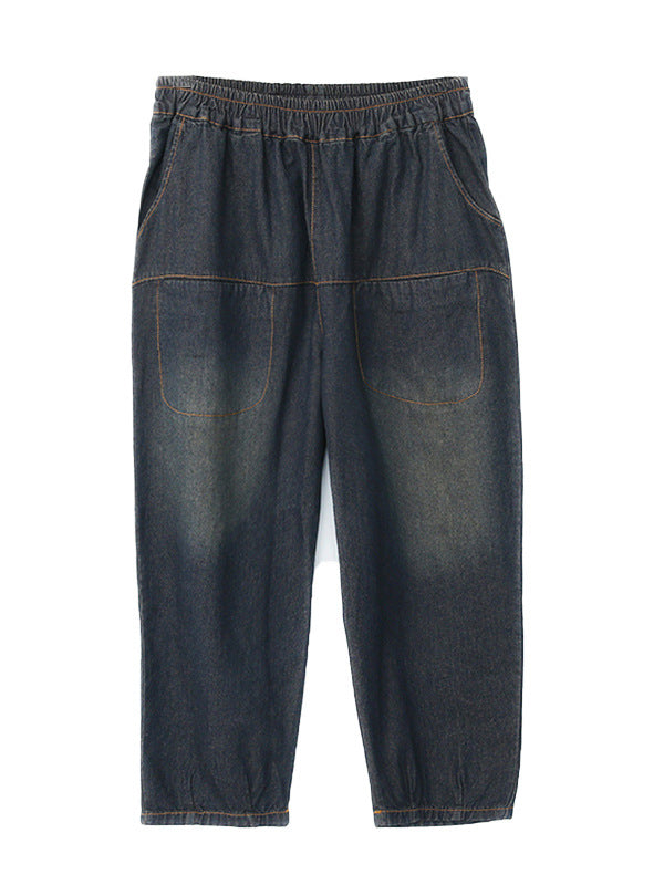 Vintage Deep Blue Jean Pants