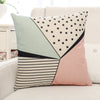 Striped Geometric Printed Pillow Case