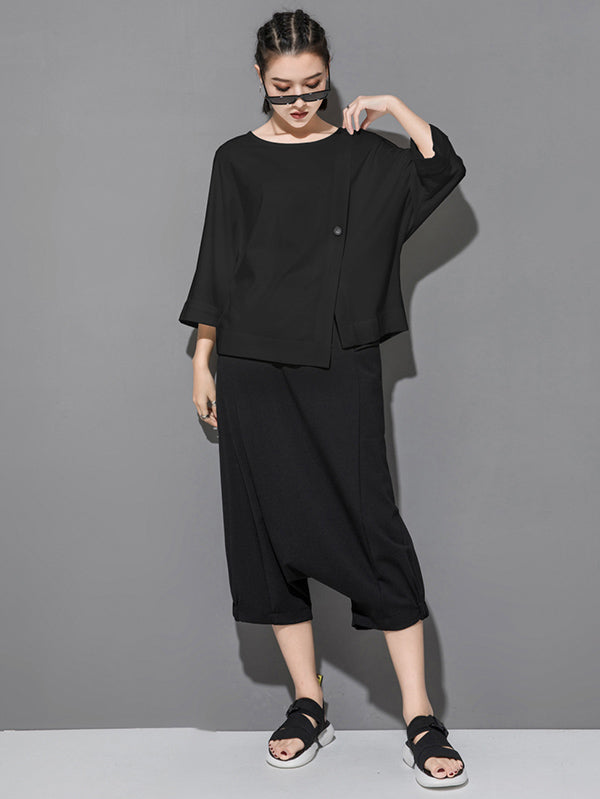 Loose Batwing Split-Joint T-Shirts