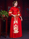 Summer Chiffon Embroidered Draping Lapel Xiuhe Suit Toast Suit Wedding Dress