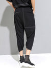 Casual Split-Joint Cropped Harem Pants
