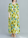 Plus Size Loose Floral Maxi Dress