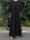 Super Loose Comfortable Lace-up Long Dress