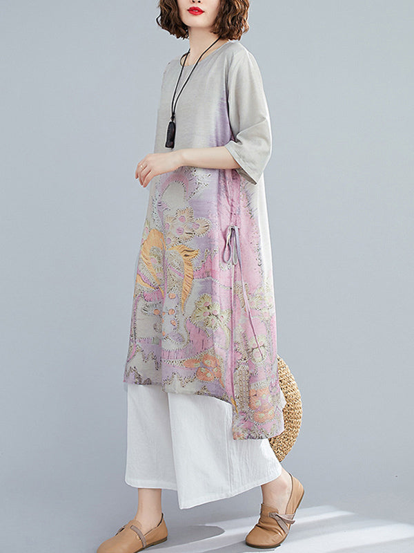 Loose National Style Printing Wide Suits