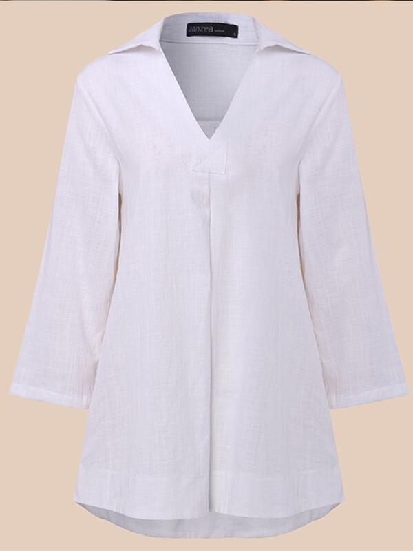 Loose Comfortable V-neck Blouses