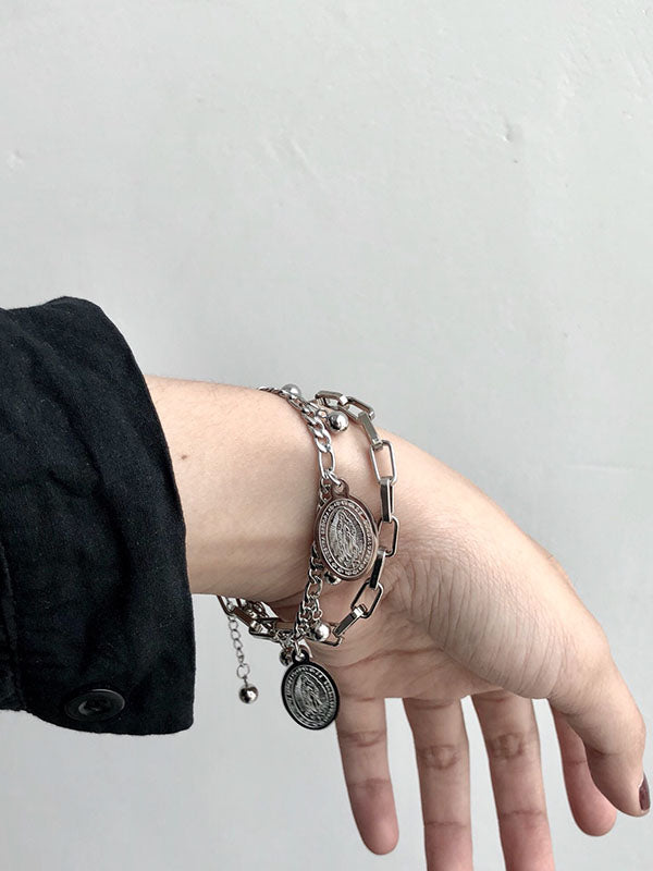 Original Double-Deck Hierarchical Chain Bracelet