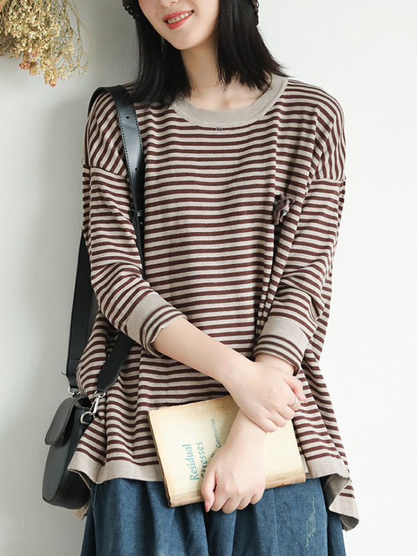 Casual Striped Light Knitting Tops