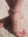 Boho Chic Rainbow Flower Beaded Anklets