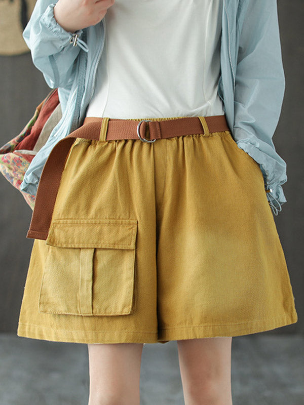 Vintage Baggy Patch Pockets Shorts