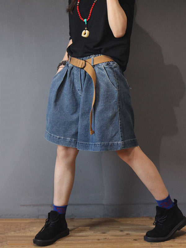 Fashion Plus Size Loose Denim Shorts Pants