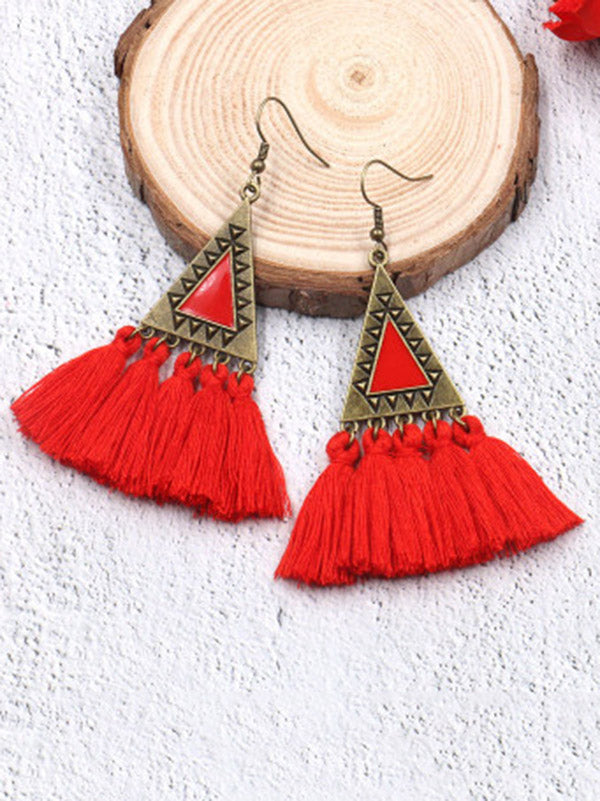 5 Colors Tassels Earrings Accessories