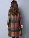 Retro Plaid Thicken Woolen Mini Dress