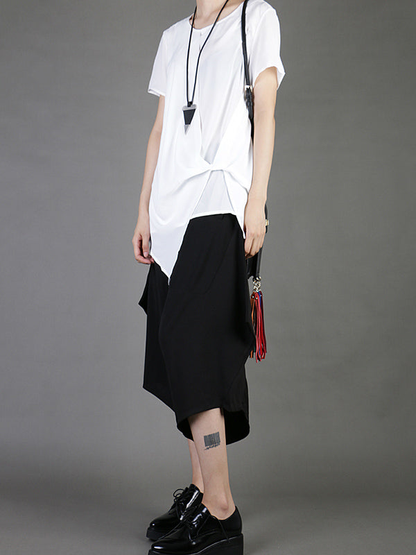 Casual Chiffon Cropped T-Shirt
