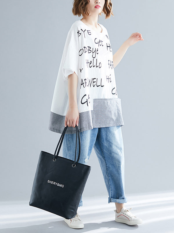 Loose Urban Casual Print Short T-Shirt