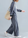 Casual Solid Outwears&Pants Suits