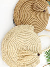 Solid Round Shape Hand-weaving Dual Bag