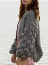 Hollow Knitting Cardigan Sweater