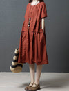 New Loose Oversize Solid Dress