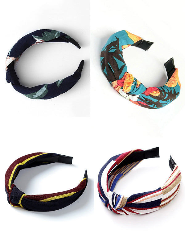 Solid Color Knot Headbands Hairband Hair Accessories Wide Side Hair Band