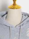 Loose Solid Color Hollow Hoodie