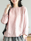 Vintage Loose Round Neck Shirt
