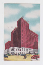 Load image into Gallery viewer, Hotel Sherman Chicago Illinois 1940's Linen Postcard Street Scene