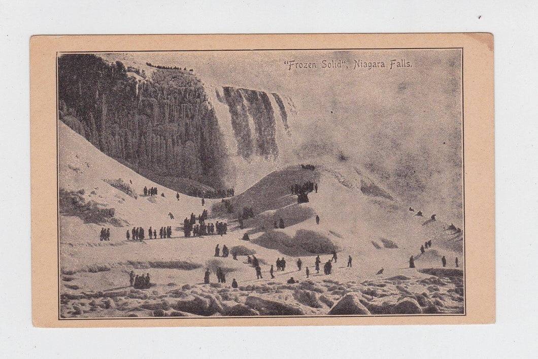 Early 1900s Undivided Back Frozen Solid Niagara Falls New York Postcard