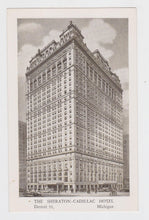 Load image into Gallery viewer, Sheraton-Cadillac Hotel Detroit Michigan Postcard 1950's - TulipStuff