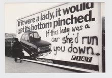 Load image into Gallery viewer, Fiat 127 Palio If It Were A Lady Billboard Postcard 1970's - TulipStuff