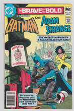 Load image into Gallery viewer, The Brave and the Bold 161 Batman and Adam Strange DC Comics April 1980