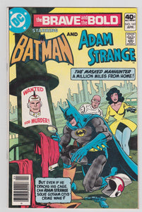 The Brave and the Bold 161 Batman and Adam Strange DC Comics April 1980